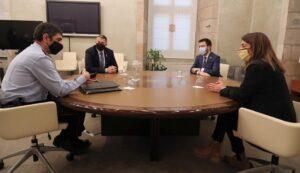 Reunió del major Trapero amb el govern català