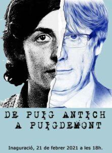 """Cartel de la exposición """"De Puig Antich a Puigdemont"""""""