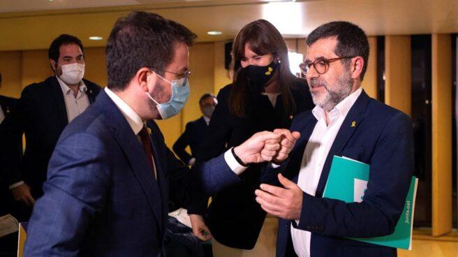 Pere Aragonès con Jordi Sànchez