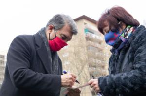 Joan Laporta, durant un acte de campanya