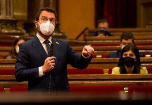 El vicepresident català amb funcions de president, Pere Aragonès