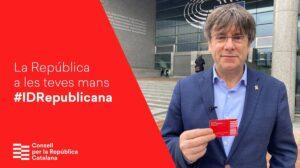 """Puigdemont, promocionando la """"Identidad Digital Republicana"""""""