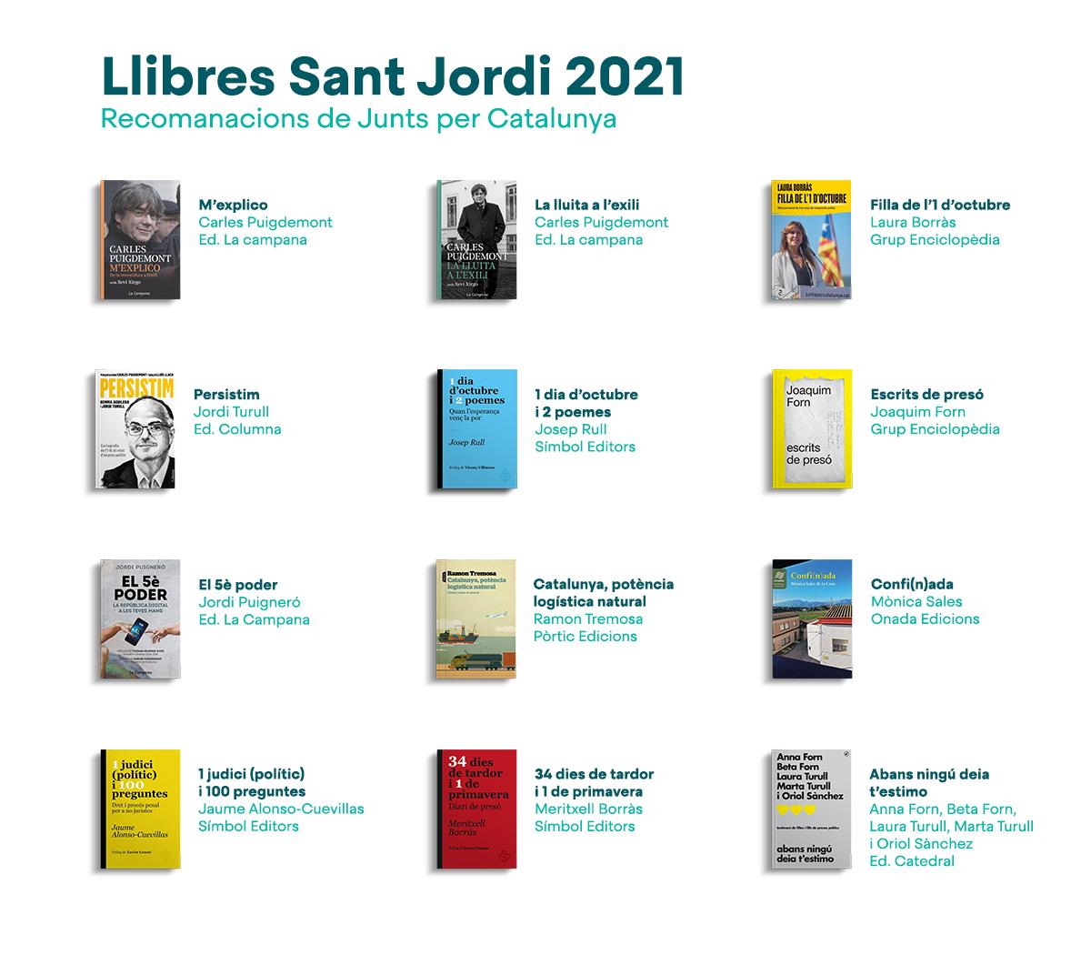 Els llibres que JxCat recomana per Sant Jordi