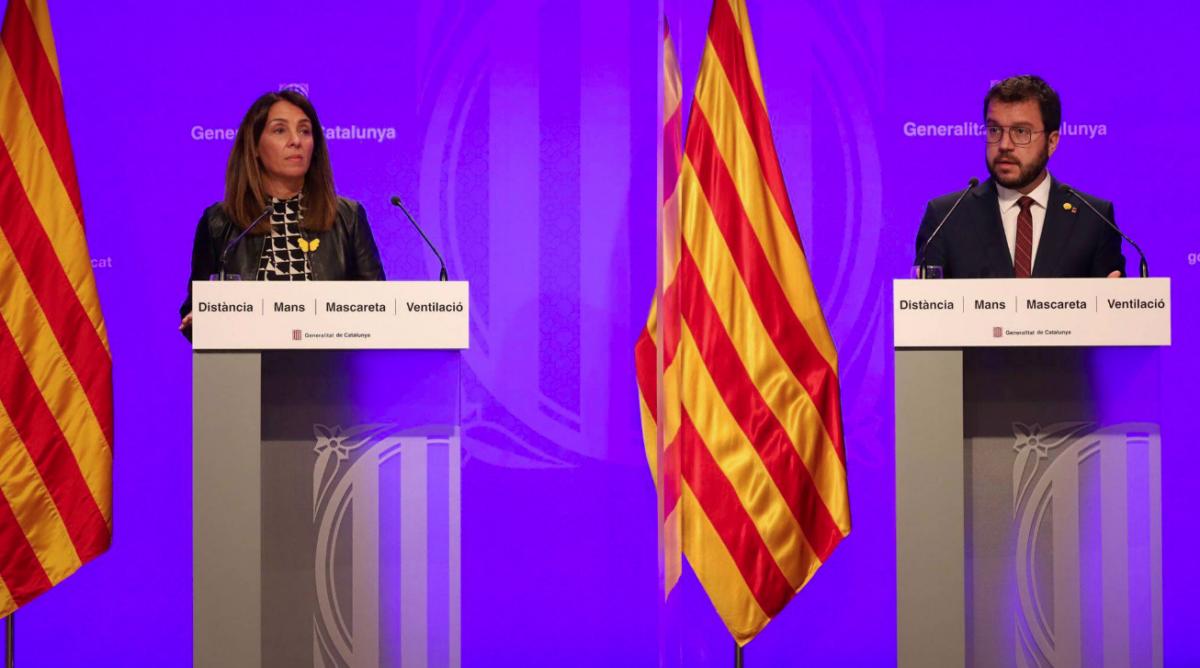 La consellera Meritxell Budó i el vicepresident Pere Aragonès