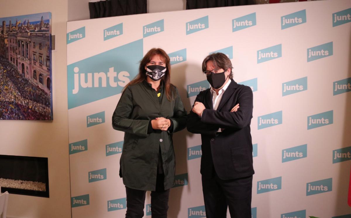 Laura Borràs i Carles Puigdemont