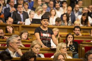 Intervenció de la diputada a la CUP Anna Gabriel, l'any 2017
