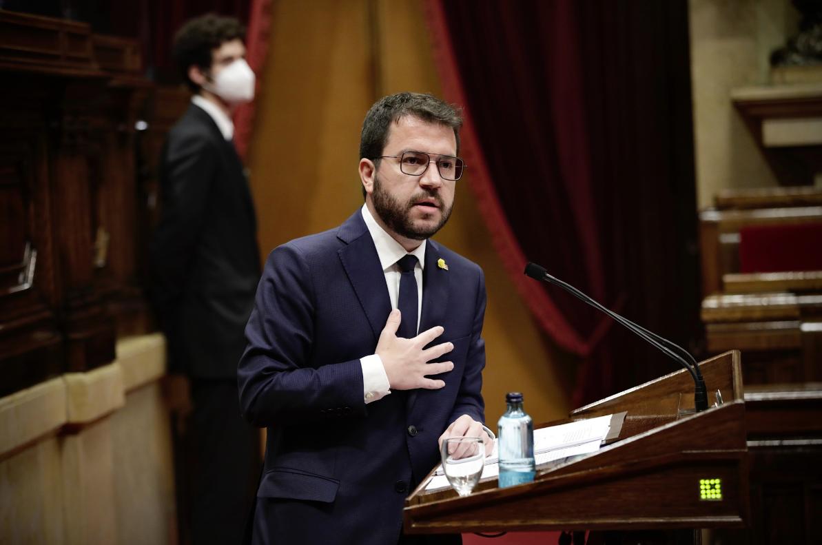 El president de la Generalitat Pere Aragonès