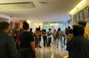 Imagen de la ocupación de la sede de ERC difundida por Arran