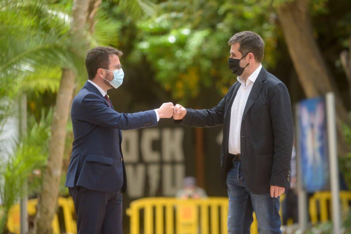 Pere Aragonès i Jordi Sànchez