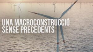 Imagen de un vídeo sobre el impacto del parque eólico marino Tramuntana