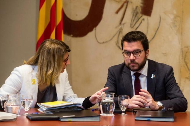 Elsa Artadi y Pere Aragonès