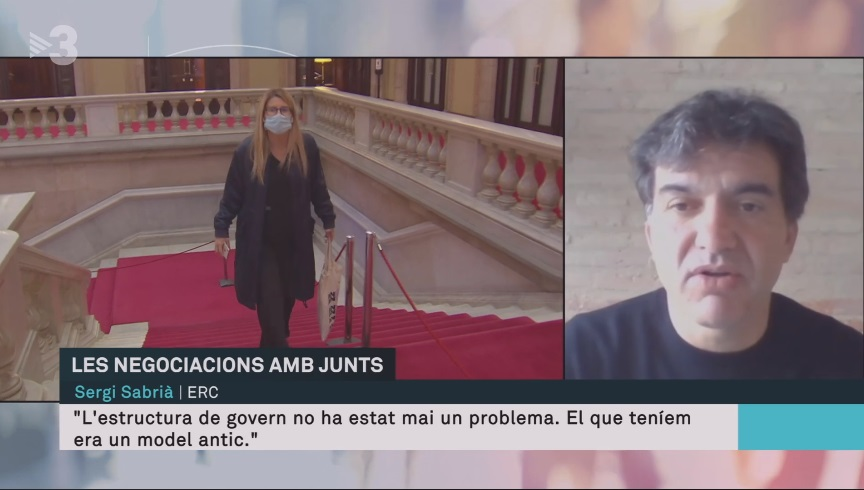 Entrevista a Sabrià, a TV3