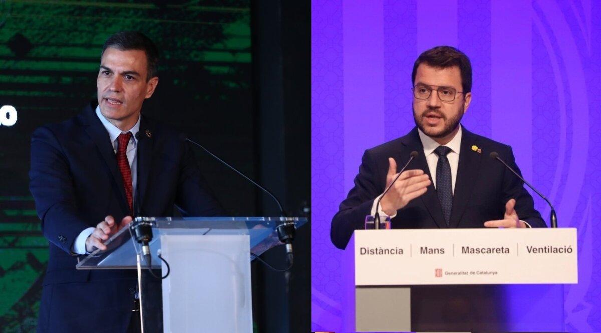 Pedro Sánchez i Pere Aragonès