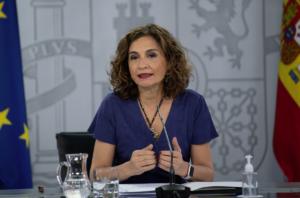 La portaveu del govern i ministra d'Hisenda, María Jesús Montero
