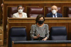 Carmen Calvo a la sessió de control del Govern espanyol