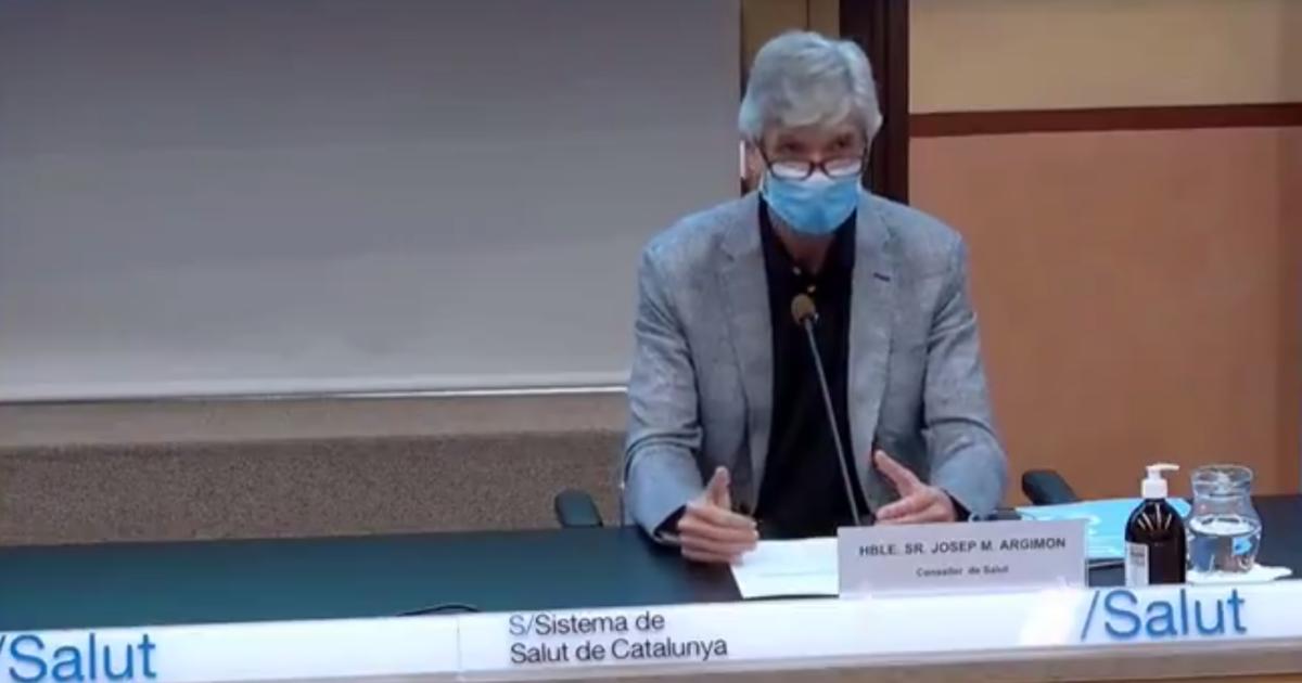 El consejero de Salud, Josep Maria Argimon