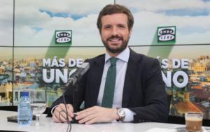 El líder del PP, Pablo Casado, en una entrevista a 'Onda Cero'