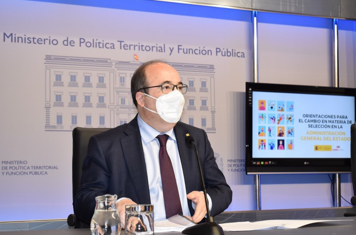 El ministre de Política Territorial, Miquel Iceta