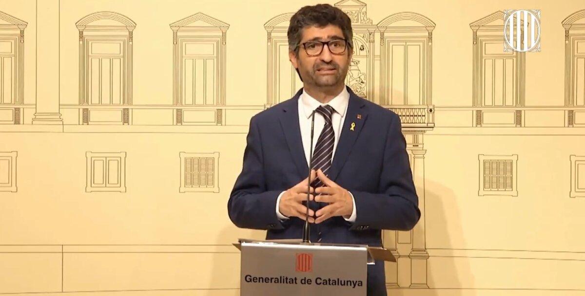 El vicepresident de la Generalitat, Jordi Puigneró