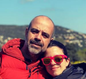 Miquel Buch con su mujer, Cesca Domènech