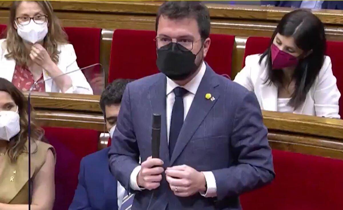 Pere Aragonès a la primera sessió de control del Govern