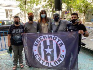 Laura Borràs, amb els Escamots Catalans Motards