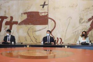 Pere Aragonès, presidint la primera reunió ordinària del nou govern de la Generalitat
