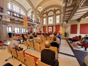 Acto de la Universidad Catalana de Verano en Manresa