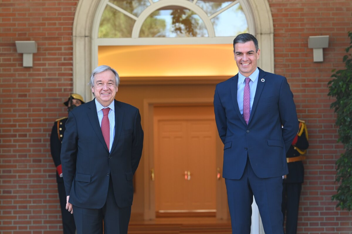 Antonio Guterres y Pedro Sánchez