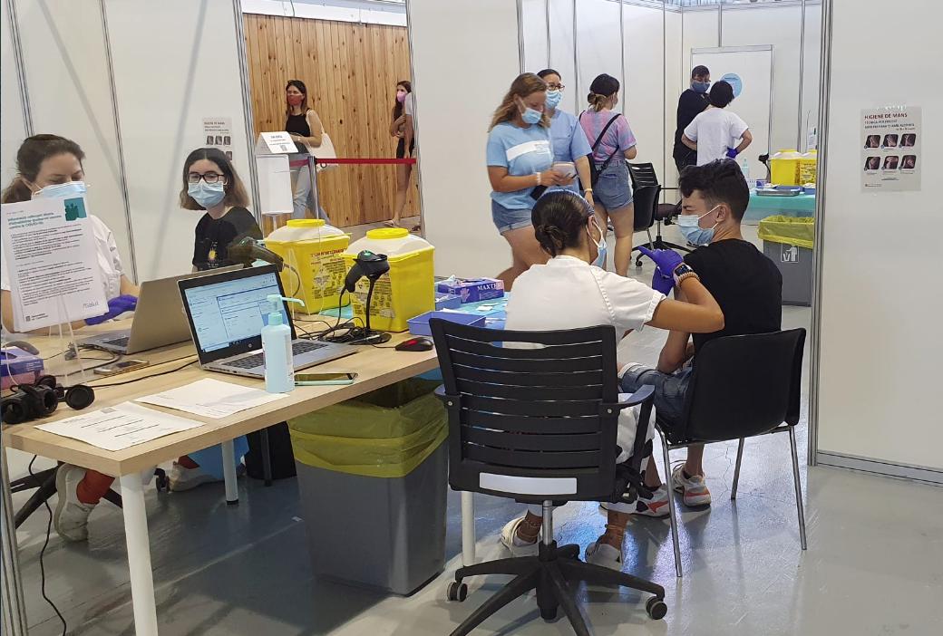 Vacunación contra la covid-19 en Tarragona