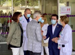 Visita de Aragonès y Argimon al Hospital de Bellvitge