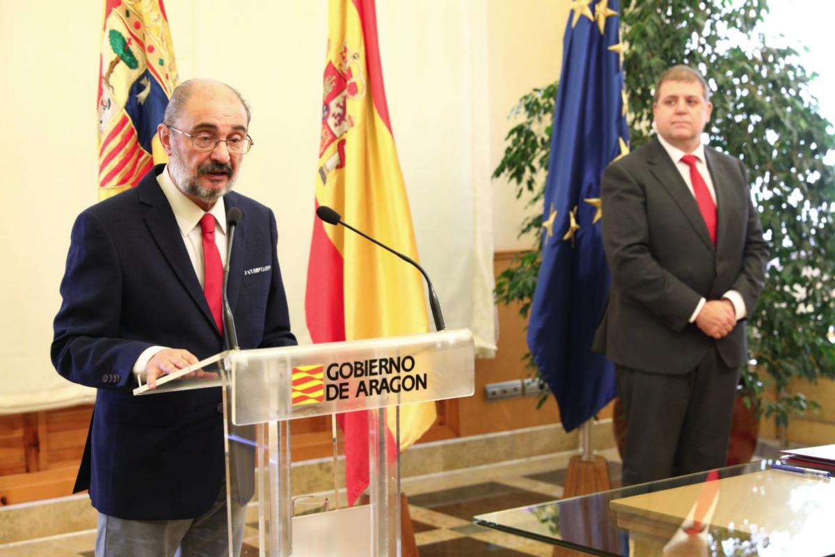 El president de l'Aragó, Javier Lambán