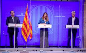 Compareixença del conseller Josep Maria Argimon amb el conseller Joan Ignasi Elena i la portaveu Patrícia Plaja