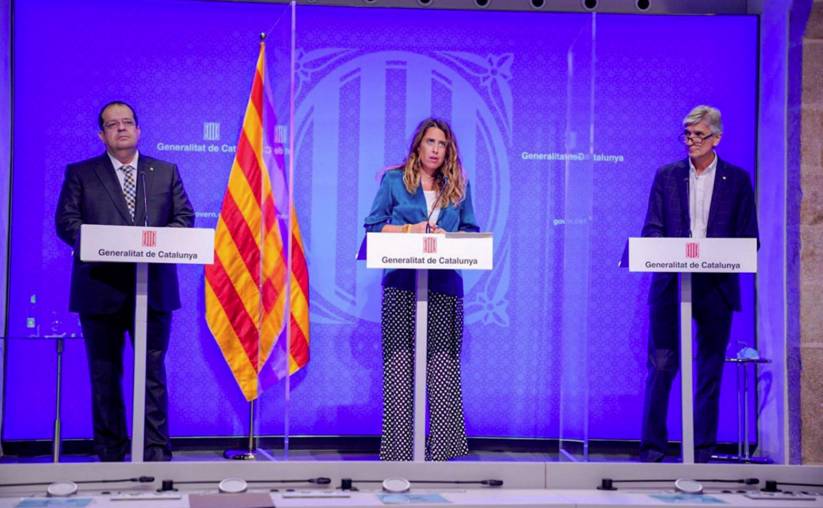 Comparecencia del consejero Josep Maria Argimon con el consejero Joan Ignasi Elena y la portavoz Patrícia Plaja