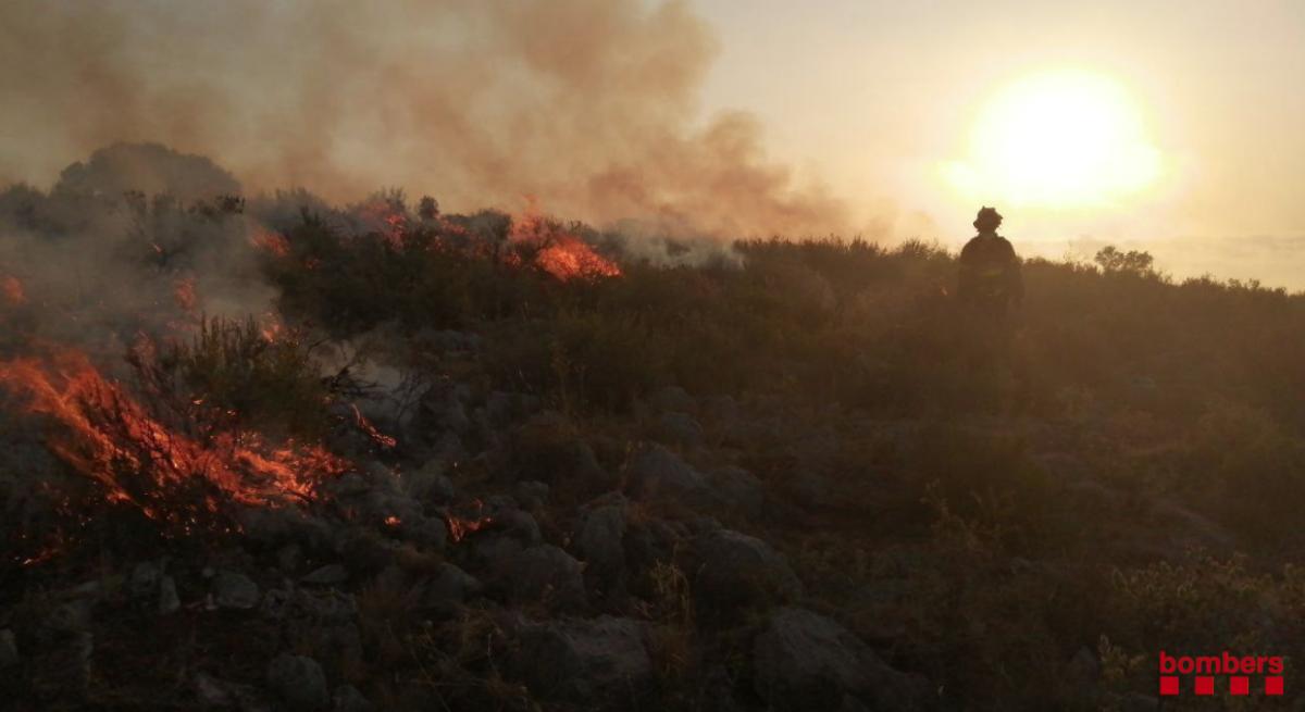 L'incendi del Massís del Montgrí