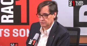 El cap de l'oposició del Parlament, Salvador Illa, en una entrevista a RAC1