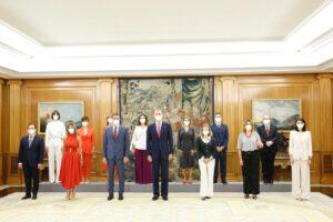 Els ministres del Govern central prenen possessió del seu càrrec davant de Felip VI