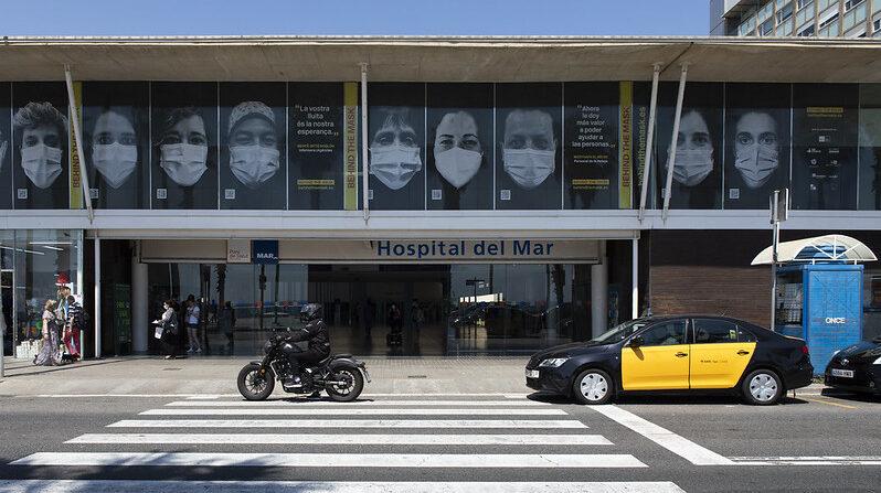 Entrada del Hospital del Mar de Barcelona