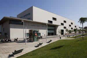 La fachada del Hospital de Sant Pau de Barcelona