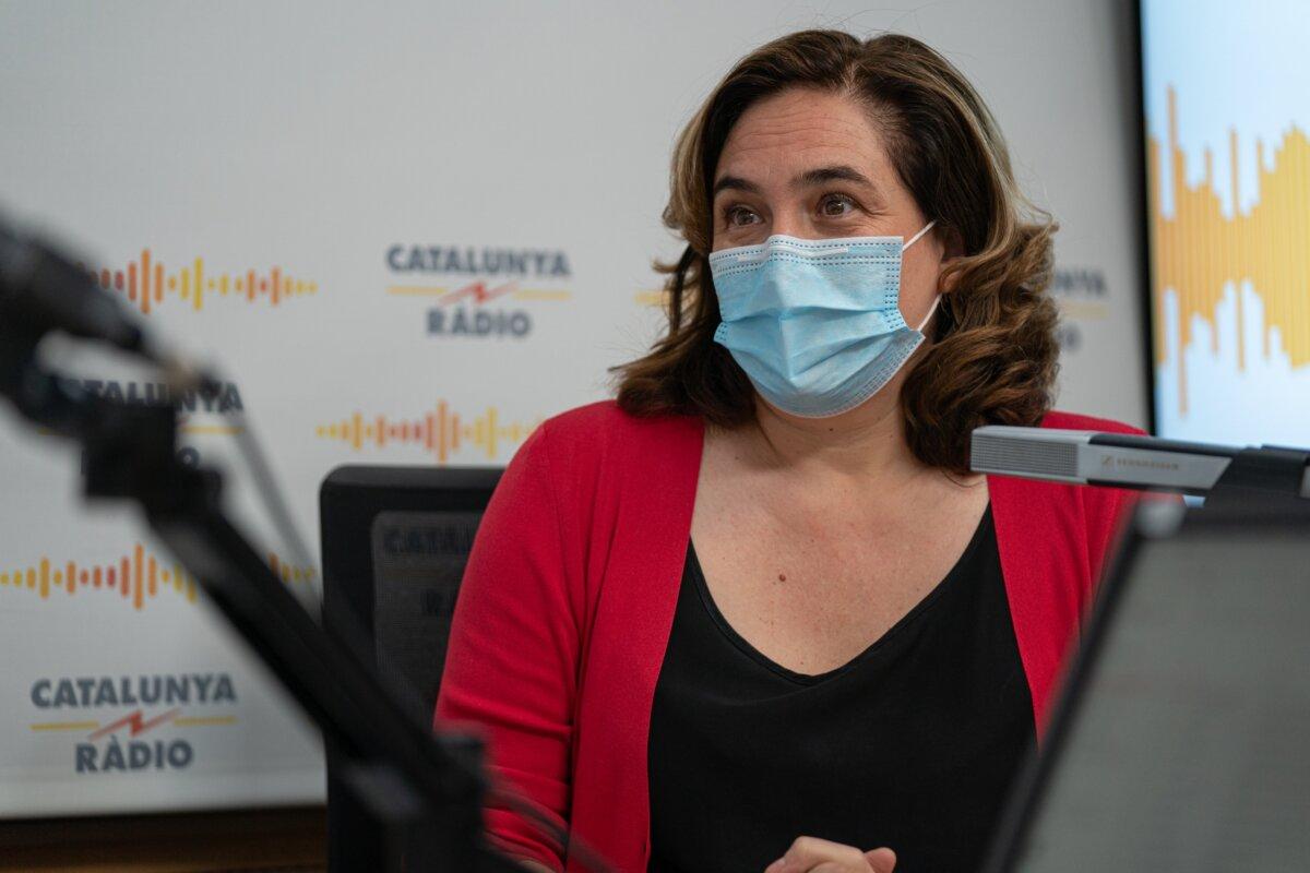 La alcaldesa de Barcelona, Ada Colau (El matí de Catalunya Ràdio)