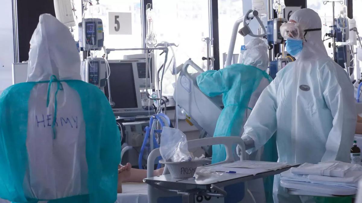 Sanitaris de l'Hospital Vall d'Hebron de Barcelona