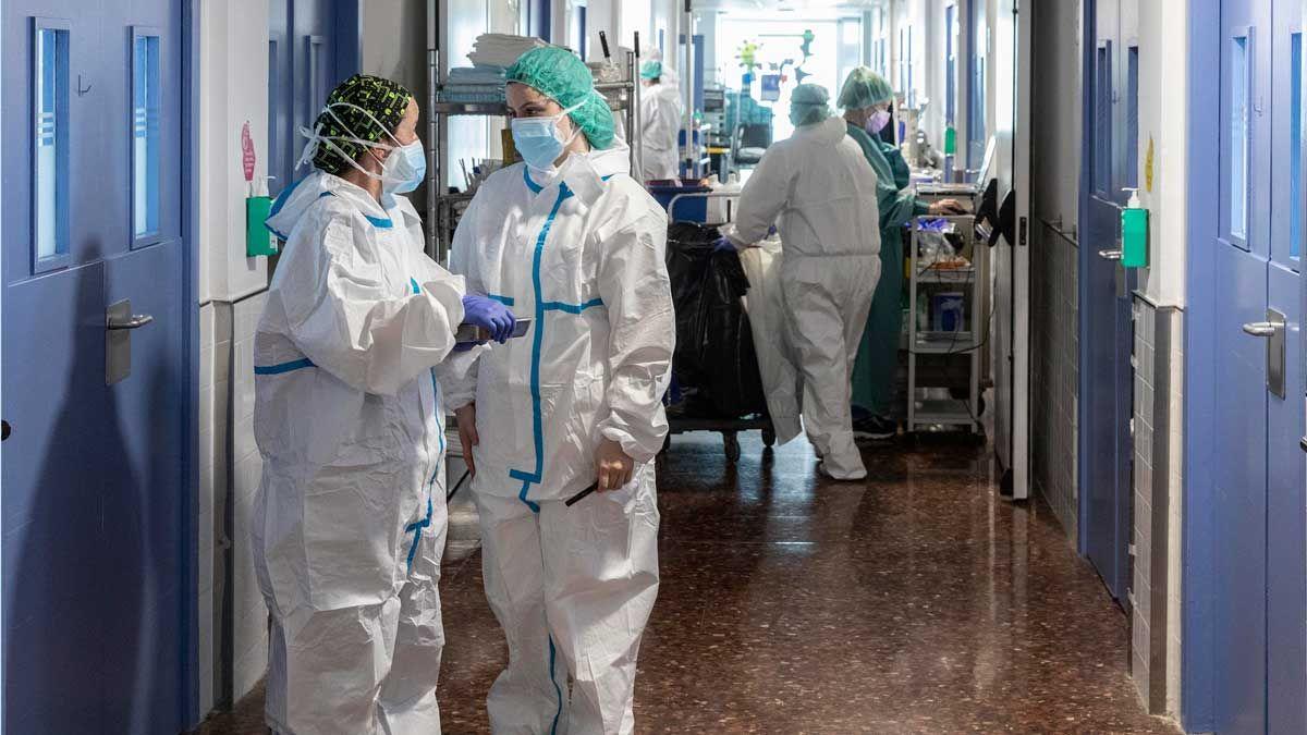 Unitat de covid de l'Hospital del Mar