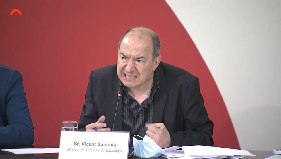 Vicent Sanchis, a la comissió de control parlamentari de la CCMA, aquest divendres 2 de juliol