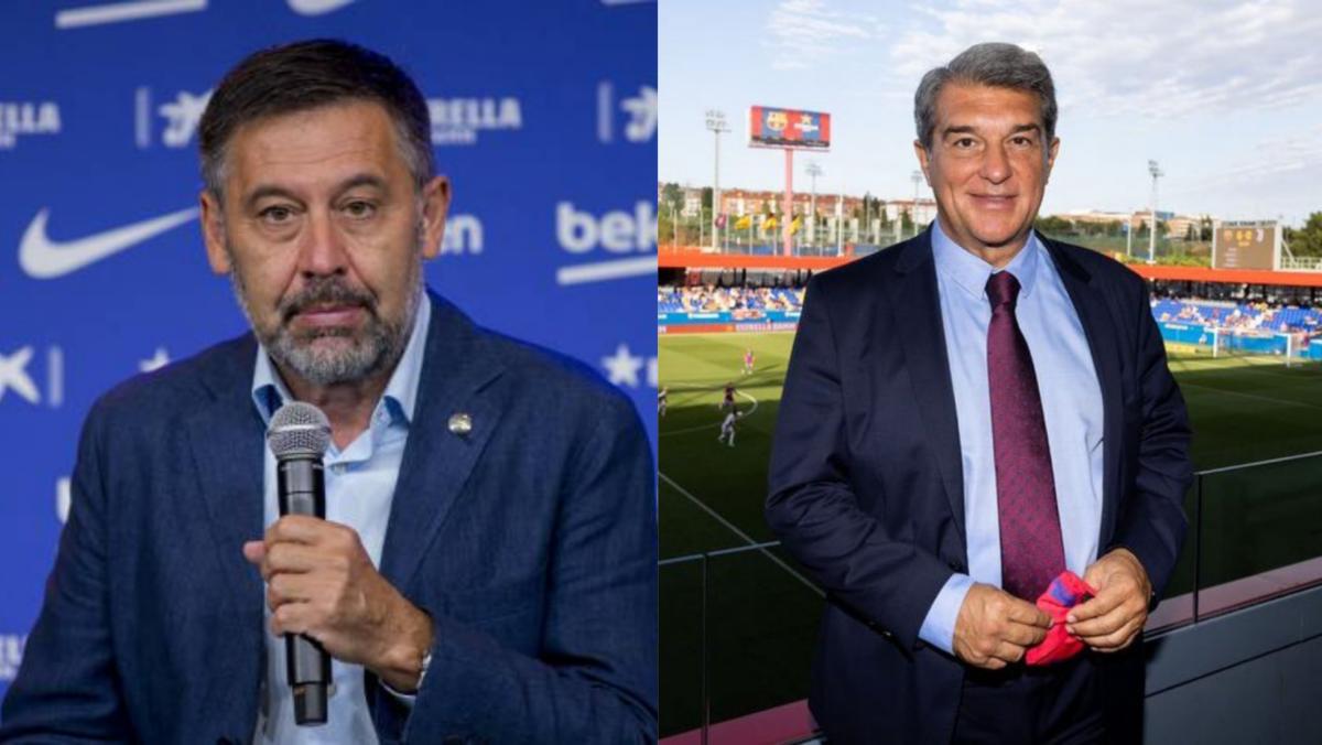 Josep Maria Bartomeu y Joan Laporta