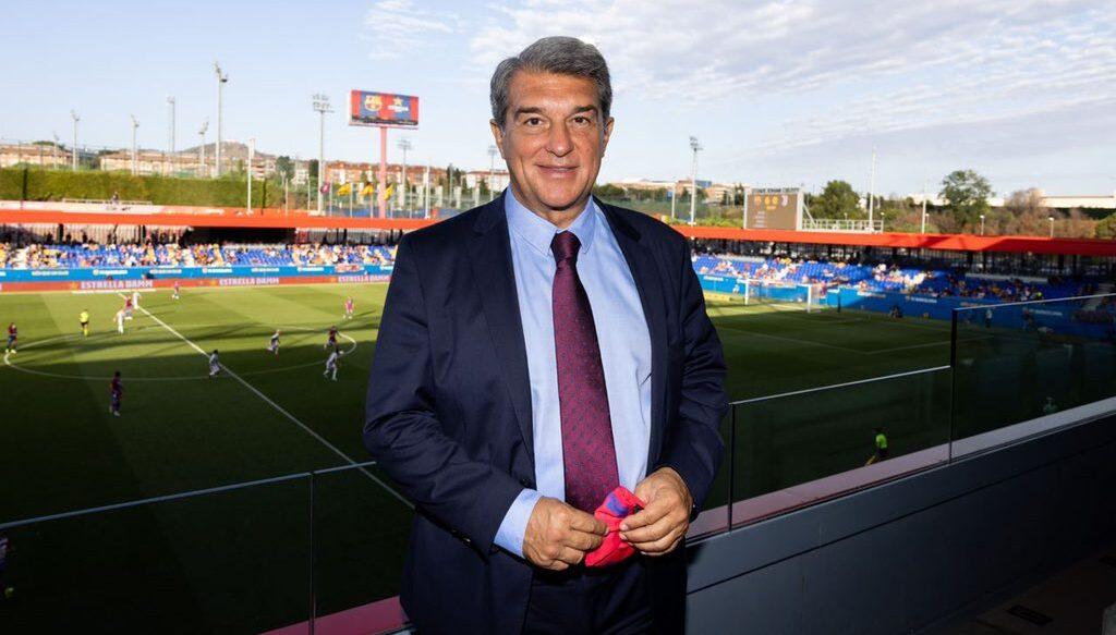 El president del Barça, Joan Laporta