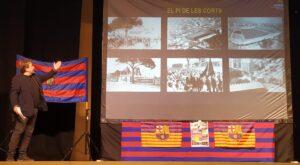 El vicepresident de la Confederació Mundial de Penyes, Salva Torres, en un acte d'aquesta temporada