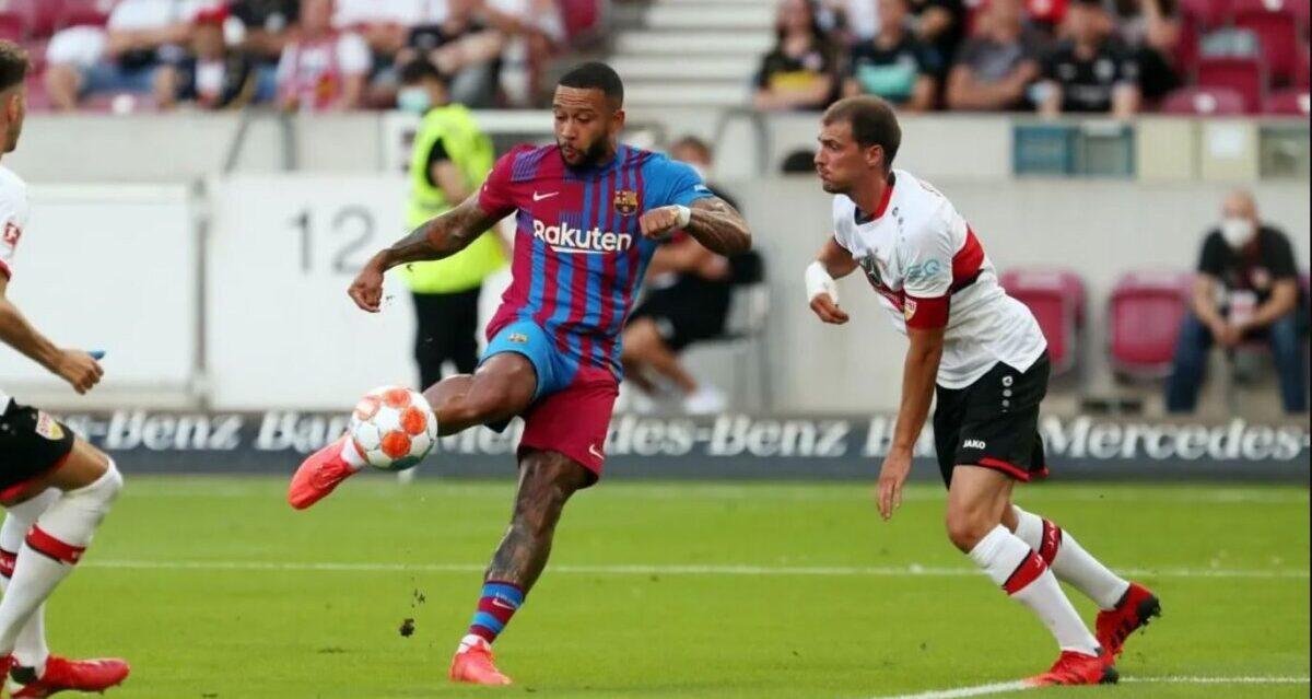 Imagen del partido amistoso entre el Barça y el Stuttgart