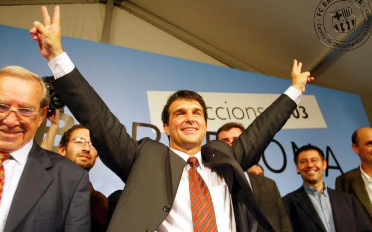 Joan Laporta en las elecciones de 2003 (FC Barcelona)
