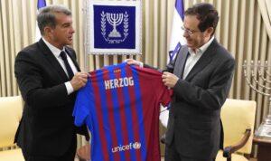 Joan Laporta amb el president d'Israel, Isaac Herzog
