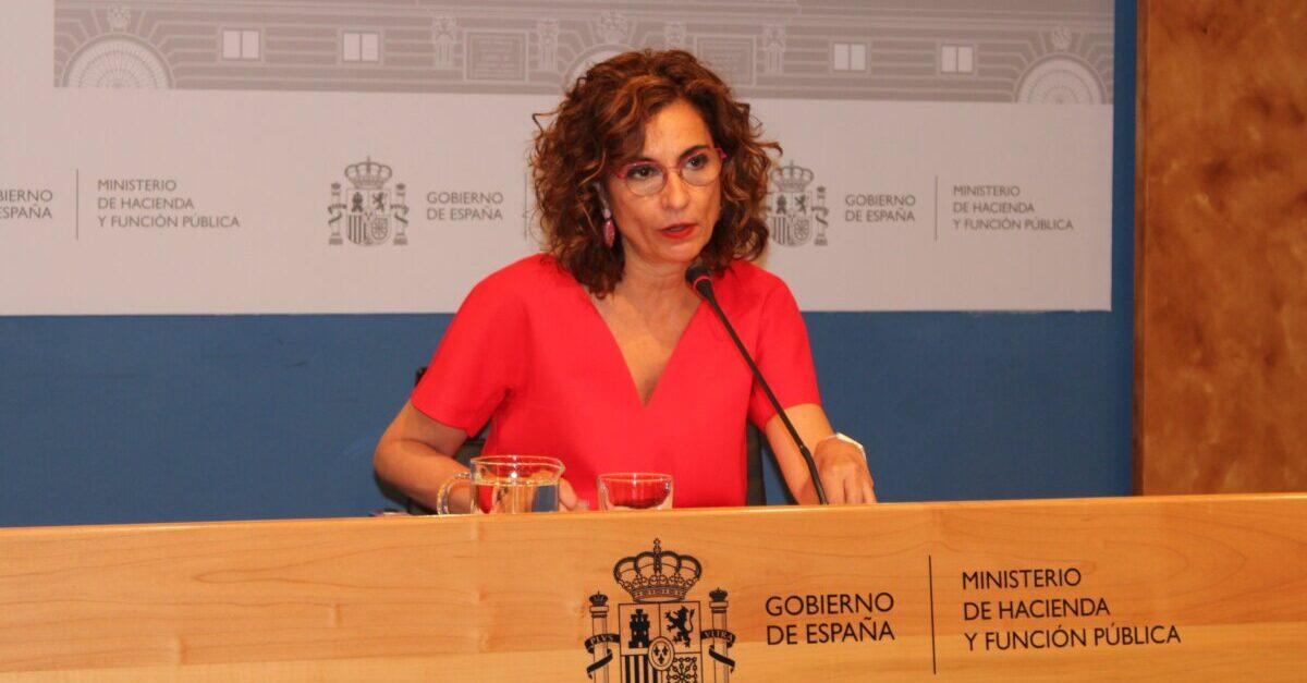 La ministra d'Hisenda i Funció Pública, María Jesús Montero